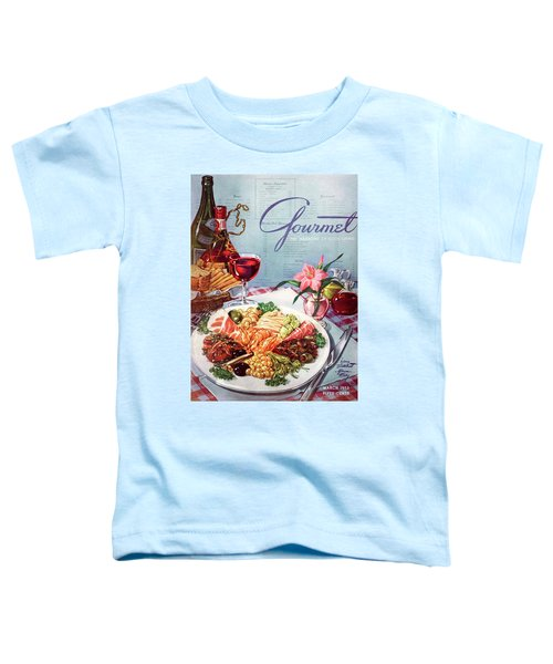 Gourmet Cover Illustration Of A Plate Of Antipasto Toddler T-Shirt