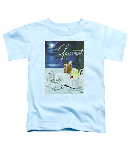 Gourmet Cover Of Cocktails Toddler T-Shirt