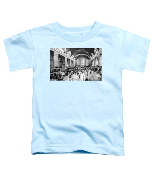 Grand Central Station -pano Bw Toddler T-Shirt