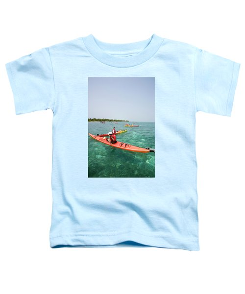 Group Of Adventure Tourists Sea Toddler T-Shirt