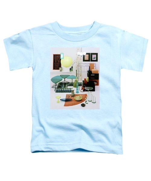 Group Of Furniture And Decorations In 1960 Colors Toddler T-Shirt
