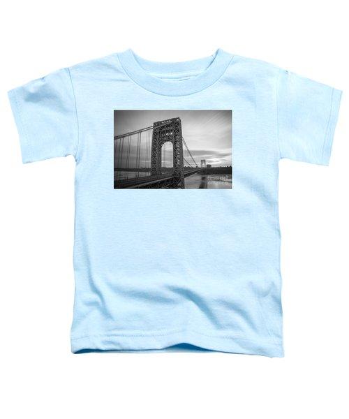 Gw Bridge Winter Sunrise Toddler T-Shirt