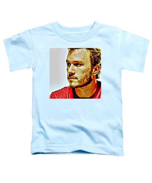 Heath Ledger Portrait Toddler T-Shirt by Florian Rodarte
