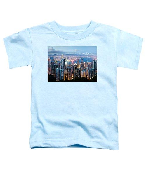 Hong Kong At Dusk Toddler T-Shirt