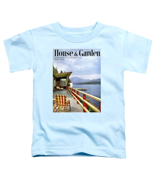 House & Garden Cover Of Women Sitting On The Deck Toddler T-Shirt