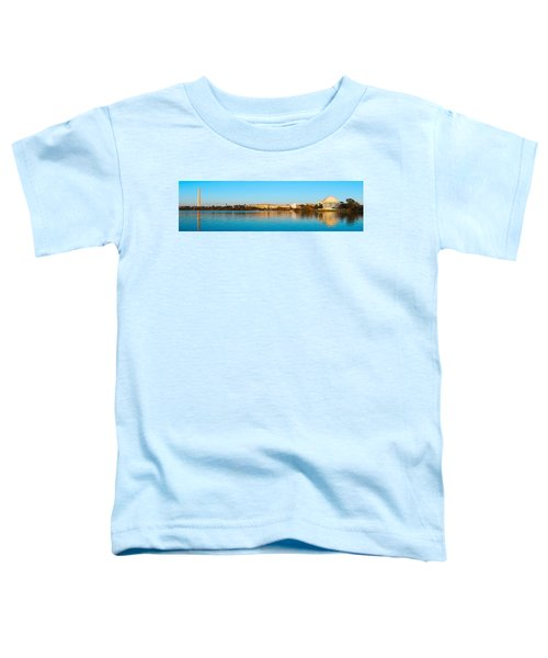 Jefferson Memorial And Washington Toddler T-Shirt by Panoramic Images