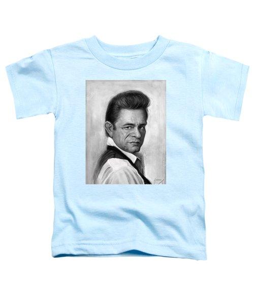 Johnny Cash Toddler T-Shirt by Andre Koekemoer