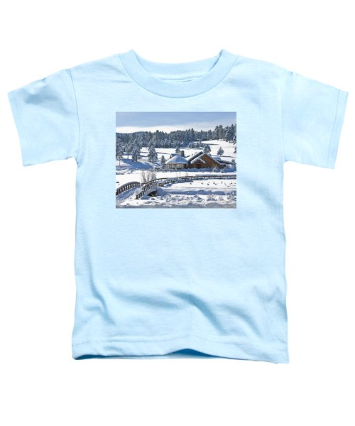 Lake House In Snow Toddler T-Shirt