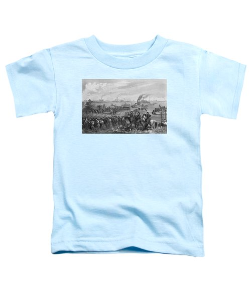 Landing Of Troops On Roanoke Island, Burnside Expedition, 8th February 1862, Engraved By George E Toddler T-Shirt