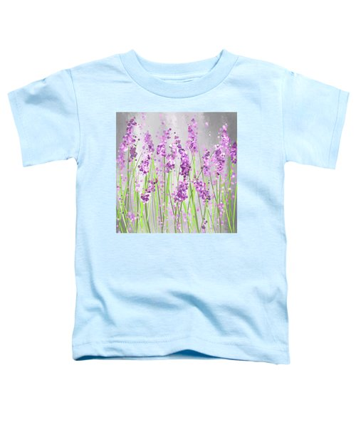 Lavender Blossoms - Lavender Field Painting Toddler T-Shirt