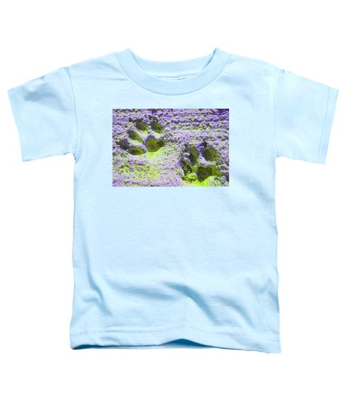 Lilac And Green Pawprints Toddler T-Shirt