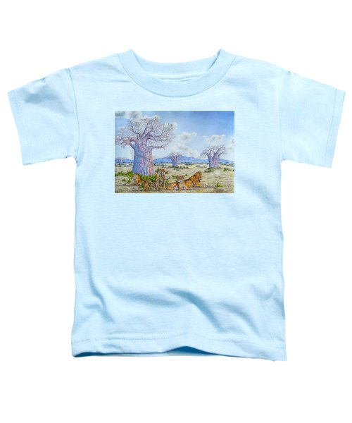 Lions By The Baobab Toddler T-Shirt