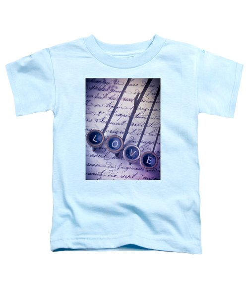 Love Type On Old Letter Toddler T-Shirt