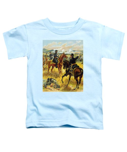 Major General George Meade At The Battle Of Gettysburg Toddler T-Shirt by Henry Alexander Ogden