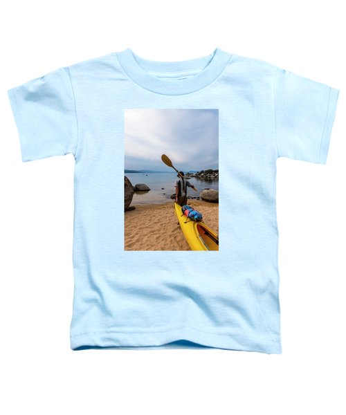 Man With A Paddle Over His Shoulder Toddler T-Shirt