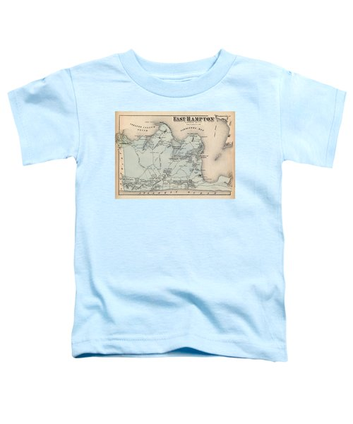 Map Of East Hampton 1873 Toddler T-Shirt