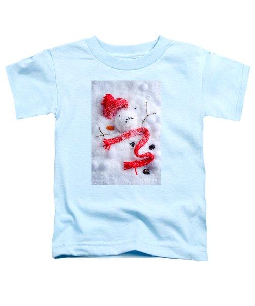 Melted Snowman Toddler T-Shirt