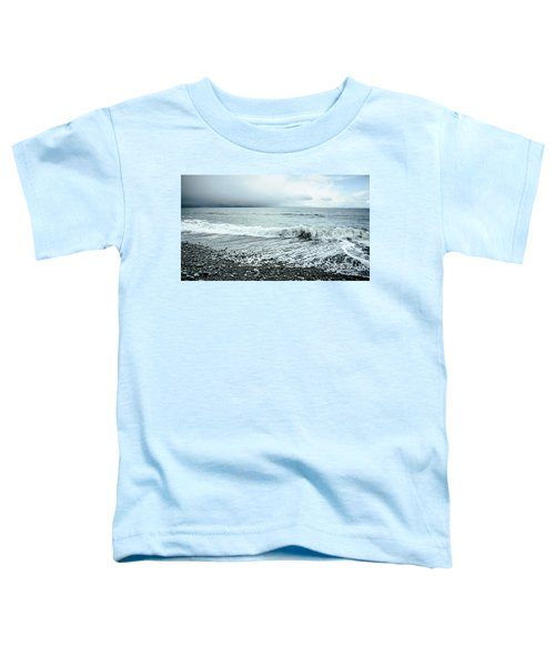 Moody Shoreline French Beach Toddler T-Shirt
