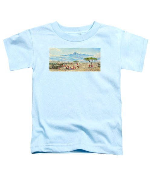 Mountain Village Toddler T-Shirt