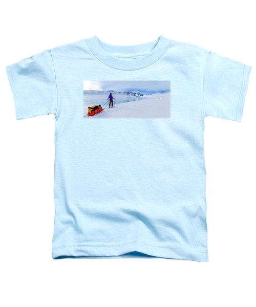 Mountaineer Pulling Pulk Sleds Toddler T-Shirt