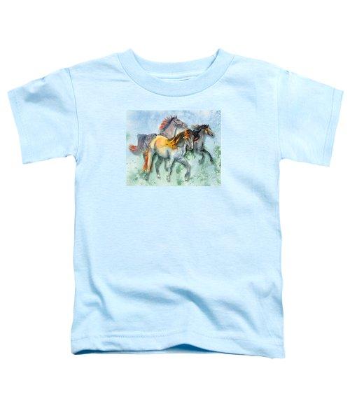 Da132 Multi - Horses Daniel Adams Toddler T-Shirt
