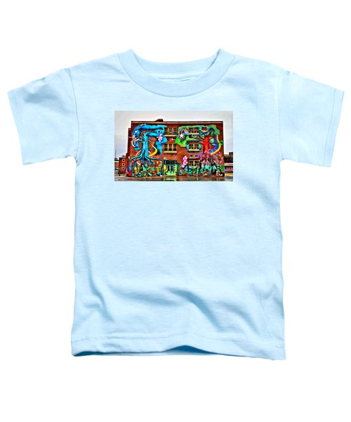 Mural On School Toddler T-Shirt