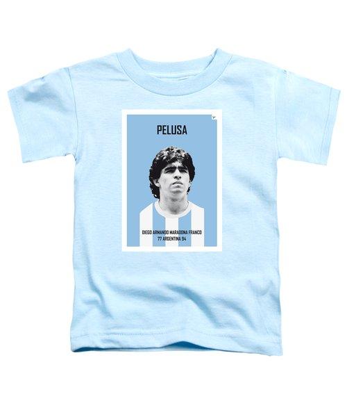 My Maradona Soccer Legend Poster Toddler T-Shirt by Chungkong Art
