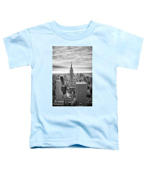Black And White Photo Of New York Skyline Toddler T-Shirt