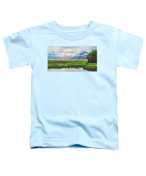 Nomad - Alaska Landscape With Joe Redington's Boat In Knik Alaska Toddler T-Shirt