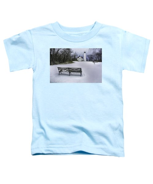 North Point Lighthouse And Bench Toddler T-Shirt
