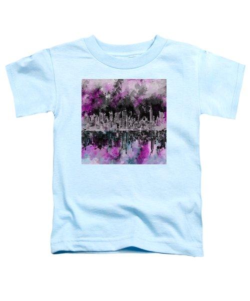 Nyc Skyline Brush Strokes Toddler T-Shirt