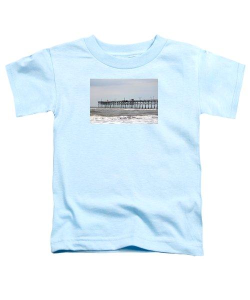 Oak Island Beach Pier Toddler T-Shirt