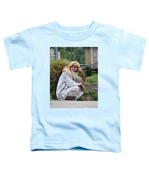 Old Man Carrying Fodder Swat Valley Kpk Pakistan Toddler T-Shirt