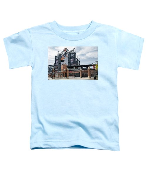 Oriole Park At Camden Yards Toddler T-Shirt by Susan Candelario