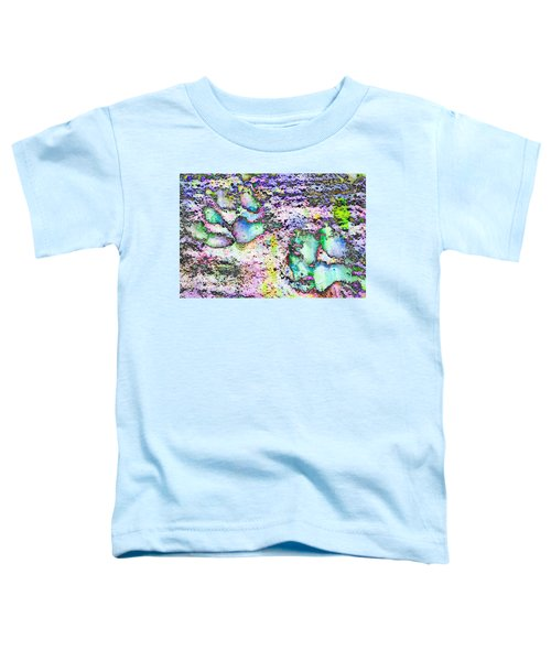Paw Prints Vibrant Pastel Toddler T-Shirt