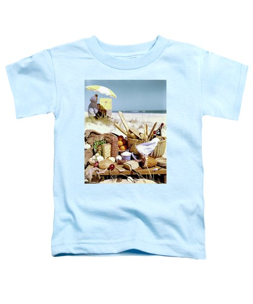 Picnic Display On The Beach Toddler T-Shirt