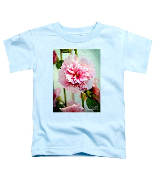 Pink Double Hollyhock Toddler T-Shirt