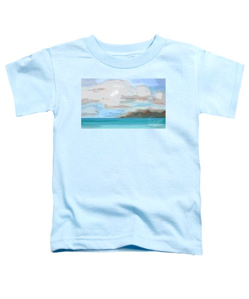 Posterized Landscape Alaska  Toddler T-Shirt