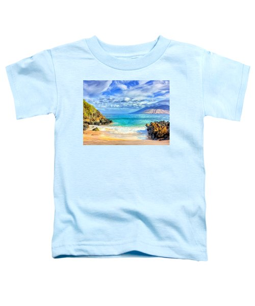 Private Beach At Wailea Maui Toddler T-Shirt