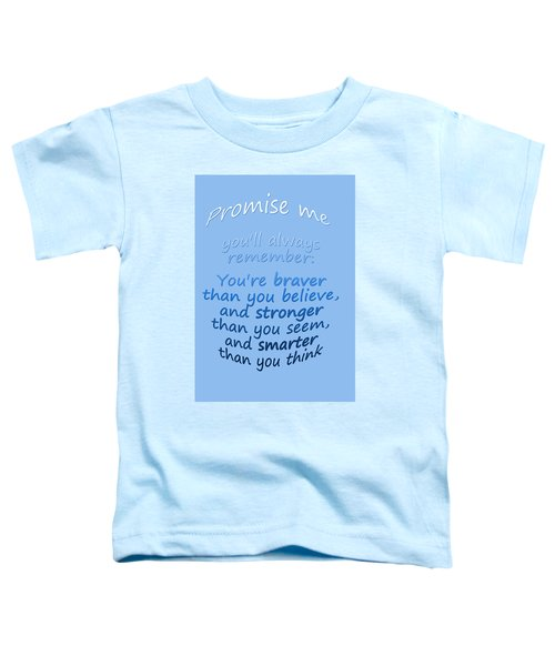 Promise Me - Winnie The Pooh - Blue Toddler T-Shirt