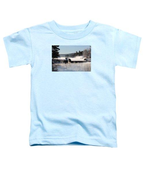 Winter  Pine River Pond  Toddler T-Shirt