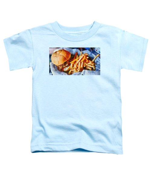 Pulled Pork Sandwich And French Fries Toddler T-Shirt
