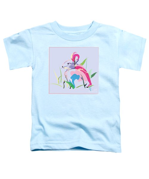 Toddler T-Shirt featuring the painting Rabbit - Bunny In Color by Go Van Kampen