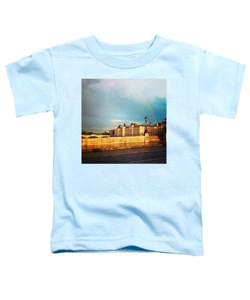 Rainbow Over The Seine. Toddler T-Shirt