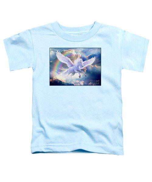 Rainbow Pegasus Toddler T-Shirt by Jan Patrik Krasny