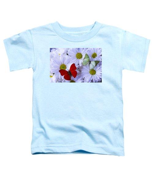 Red And Green Butterflies Toddler T-Shirt