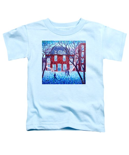 Red House In Montreal - Cityscape Toddler T-Shirt