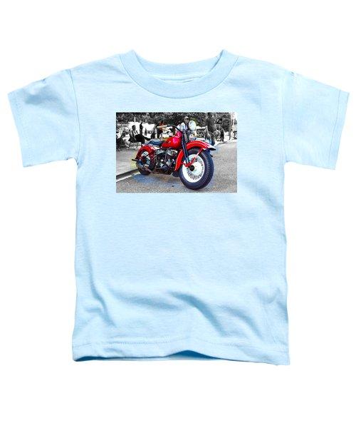 Red Rider On Black Toddler T-Shirt