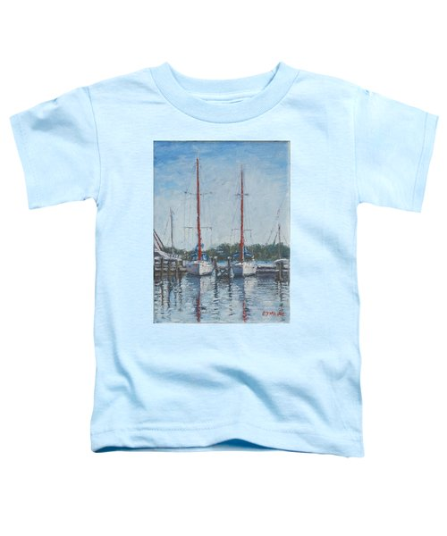 Red Sails Under Gray Sky Toddler T-Shirt