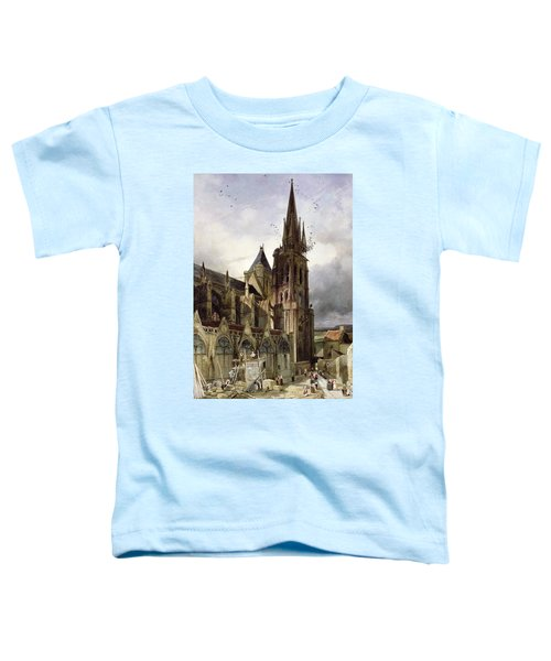 Restoring The Abbey Church Of St. Denis In 1833 Oil On Canvas Toddler T-Shirt